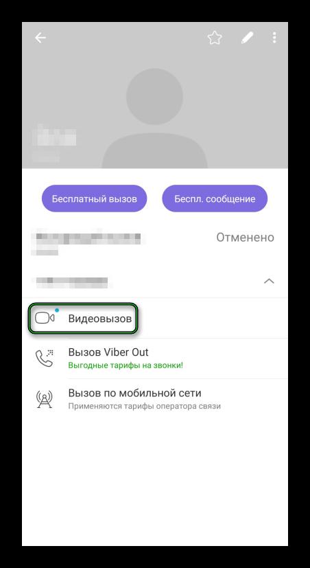 Бесплатный видеовызов в приложении Viber