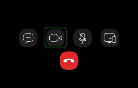 Переключение на видеосвязь в приложении Viber