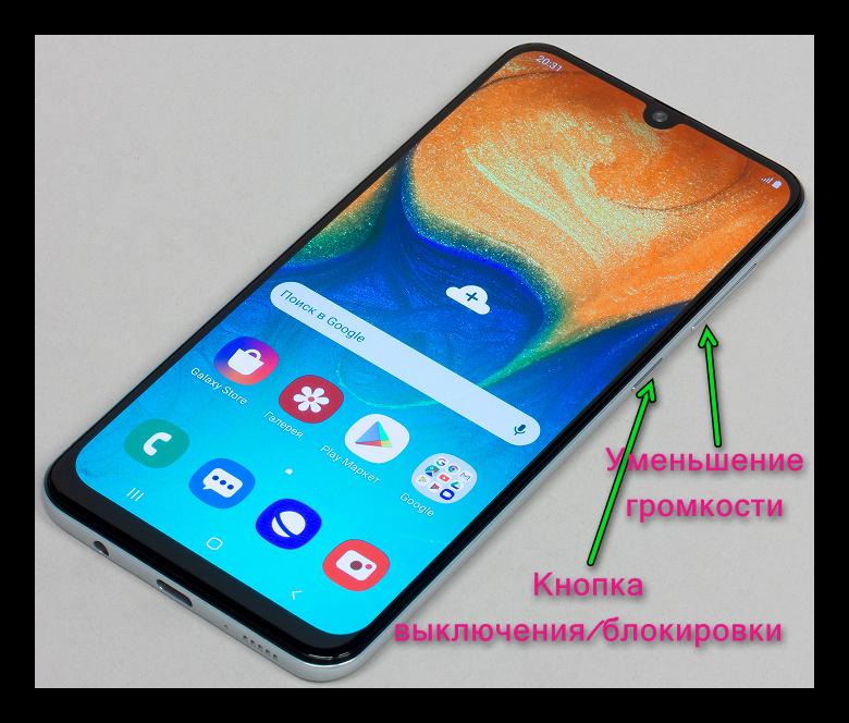 Картинка Кнопки для скриншота на Android