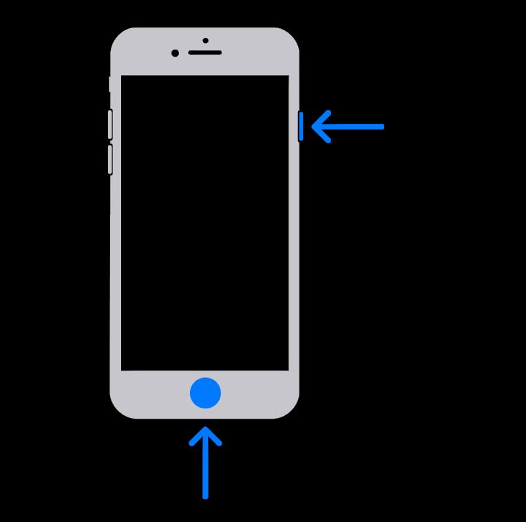 Картинка Скриншот на старых версиях iPhone