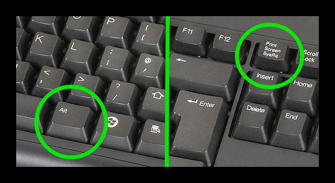 Картинка Скриншот окна на клавиатуре